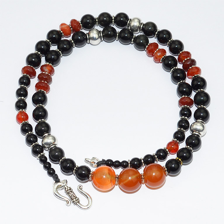 Carnelian Amp Black Obsidian Necklace Bead Necklaces