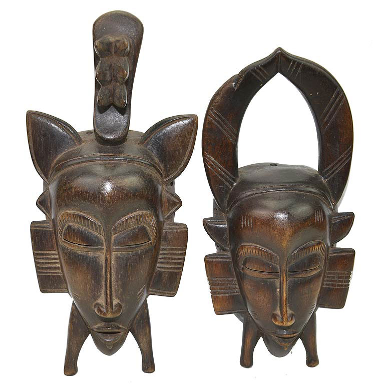 Pair of small Senufo Masks