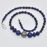 sapphire and lapis lazuli necklace