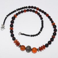 Carnelian & Onyx necklace