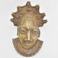 Nigerian festac mask in bronze