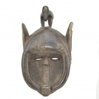 Antique tribal mask Yaure