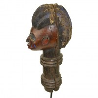 Yoruba wooden post top  (side view)